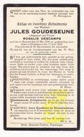 DP Jules Goudeseune Goudezeune ° Kemmel Heuvelland 1850 † Dikkebus Ieper 1932 X Rosalie Descamps - Images Religieuses