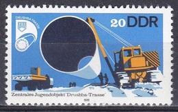 Deutschland Germany DDR 1978 Jugendobjekt Drushba-Trasse Infrastruktur Erdgas Natural Gas Pipeline, Mi. 2368 ** - [6] République Démocratique