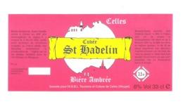 BROUWERIJ CELLES - CUVEE ST. HANDELIN - BIERE AMBREE    -  BIERETIKET  (BE 139) - Beer