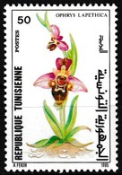 Timbre-poste Gommé Neuf** - Faune Et Flore Orchidée (Ophrys Lapethica) - N° 1257 (Yvert) - Tunisie 1995 - Tunisie (1956-...)