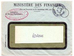 LOIRE INFERIEURE - Dépt N° 44 = HERBIGNAC 1956 = CACHET A7 + FRANCHISE MINISTERE DES FINANCES - Marcophilie (Lettres)