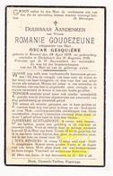 DP Romanie Goudezeune Goudeseune ° Kemmel Heuvelland 1879 † Dikkebus Ieper 1936 X Oscar Gesquière - Images Religieuses