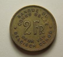 Belgian Congo 2 Francs 1947 - Congo (Belge) & Ruanda-Urundi