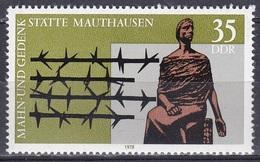 Deutschland Germany DDR 1978 Geschichte History Gedenkstätten Mahnstätten Memorial Mauthausen Cremer, Mi. 2356 ** - [6] République Démocratique