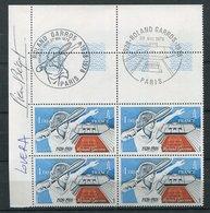 France  - Tennis  Rolland Garros - 1978 -   - Timbre Avec Signature - Lovera - Béquet - Tennis