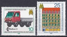 Deutschland Germany DDR 1978 Wirtschaft Economy Messe Fair Transport IFA Multicar Bauwerke Buildings, Mi. 2353-4 ** - [6] République Démocratique
