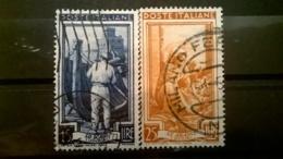 FRANCOBOLLI STAMPS ITALIA ITALY 1950 USED SERIE  ITALIA AL LAVORO - 1946-60: Oblitérés