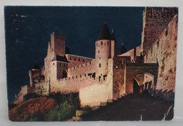 Chateau Carcassonne Francia Cartolina 1970 - Châteaux