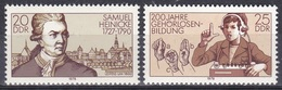 Deutschland Germany DDR 1978 Bildung Education Persönlichkeiten Samuel Heinicke Gehörlose Deaf People, Mi. 2314-5 ** - DDR