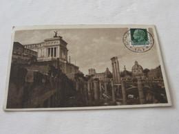 ROMA 1935 FORO DI GIULIO CESARE BN VG PICCOLA - Roma (Rome)