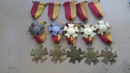 Medaille - Medaille - Medaille - 10 X Zwemvierdaagse Enschede Holland - 1-2-3-4-5-6-7-8-9-10. - Pays-Bas