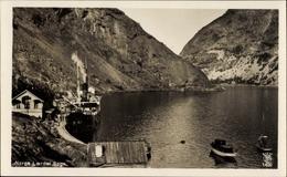 Cp Laerdal Norwegen, Partie Im Fjord, Sogn, Schiffe, Felsen - Norvège