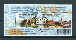 2001 Netherlands Complete M/Sheet Amphilex Stamp Show Used/gebruikt/oblitere - Blokken