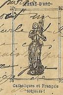 """Carte-réponse Correspondance Militaire 1915 / Jeanne D'Arc """"Catholiques Et Français Pour Toujours"""" - 1914-18"""