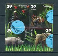 2006 Netherlands Blok Of 4 Animals,dieren,tiere Used/gebruikt/oblitere - Periode 1980-... (Beatrix)