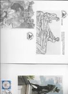 Encart Et 2 Cartes édités Pour Le 4ème Centenaire De La Mort D'Ambroise Paré En 1990 - Autres