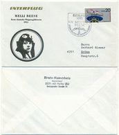 Interflug, Melli Beese Erste Deutsche Flugzeugführerin 1911, Luftpost DDR 1982 - DDR