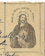 """Carte-réponse Correspondance Militaire / """" Coeur De Jésus, Sauvez La France"""" / Acte D'acceptation De La Mort - 1914-18"""