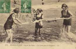 BERCK PLAGE  Sortie De Bain La Lutte Pour Le Peignoir + Timbres 10C X2 Cachet Flamme Daguin Berck   RV - Berck