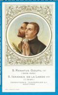 Holycard    St. Renatus Goupil   Ioannes De La Lande - Images Religieuses