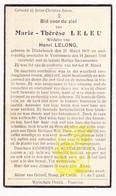 DP Marie Th. Leleu ° Dikkebus 1860 † Voormezele 1944 X Henri Lelong / Ieper - Images Religieuses