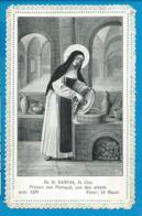 Holycard    St. Sancia  V. Portugal    Canivet - Devotion Images