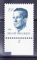 BELGIQUE COB 2356 ** MNH, AVEC NR PL 2, GOMME BLANCHE. (4TJ45) - 1981-1990 Velghe