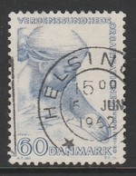 Denmark 1960 World Health Organisation Congress In Copenhagen 60 Øre Blue SW 389 O Used - Danemark