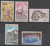 FRANCE 1972/1973__N° 1725/1752/1754/1759/1761__ OBL VOIR SCAN - France