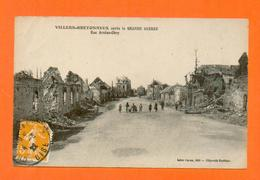 CPA FRANCE 80  ~  VILLERS-BRETONNEUX Après La Grande Guerre  ~  Rue Arsène-Obry  ( Caron 1922 )  Animée  2 Scans - Villers Bretonneux