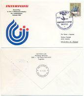 Interflug Sonderflug Berlin-Helsinki, Leichtathletik WM, Luftpost DDR 1983 - DDR