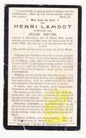 DP Henri Lamoot ° Dikkebus Ieper BE 1850 † Marquette-lez-Lille FR Nord 1929 X Julie Devos - Images Religieuses