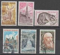 FRANCE 1972/1973__N° 1725/1752/1754/1759/1764/1767__ OBL VOIR SCAN - France