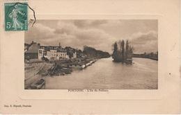 CPA - AK Pontoise L' Ile Du Pothuis Port A Saint Ouen L' Aumône Cergy Éragny Osny Ennery Epluches Paris 95 Val D' Oise - Pontoise
