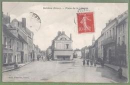 CPA Vue Rare - ORNE - BELLEME - PLACE DE LA LIBERTÉ -  Animation, Commerces - Prézelin éditeur, Bural - France