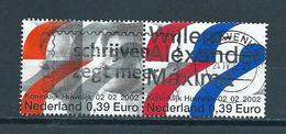 2002 Netherlands Complete Set Royal Wedding Used/gebruikt/oblitere - Periode 1980-... (Beatrix)