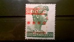 FRANCOBOLLI STAMPS ITALIA ITALY 1957 USED SAN GIORGIO DI DONATELLO AFFRANCATURA MECCANICA ROSSA SASSONE 810 - 1946-60: Usati