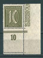 MiNr. 159 ** Bogenecke Mit Leerfeld, Befund Fleiner - Deutschland