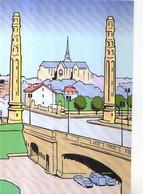 02 ST QUENTIN Le Pont De La Gare, Illustrateur Serge Dutfoy - Saint Quentin