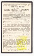 DP Renilde Math. Lamerant ° Dikkebus Ieper 1861 † OLV De Klijte 1933 X H. VandeCasteele / Reningelst Heuvelland - Images Religieuses