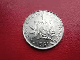 FRANCE   1  Franc   1961  -  Semeuse  -- SUP -- - Francia