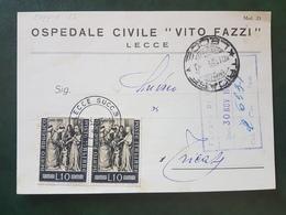 (18623) STORIA POSTALE ITALIA 1955 - 1946-60: Storia Postale