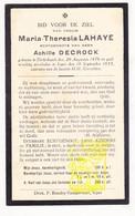 DP Maria Th. LaHaye ° Dikkebus 1876 † Ieper 1933 X Achille Decock - Images Religieuses