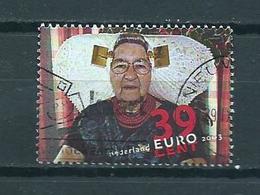 2003 Netherlands Vrouw Met Klederdracht Used/gebruikt/oblitere - Periode 1980-... (Beatrix)