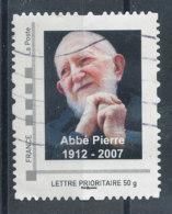 Abbé Pierre - Lettre Prioritaire 50g (o) - France