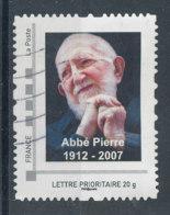 Abbé Pierre - Lettre Prioritaire 20g (o) - France