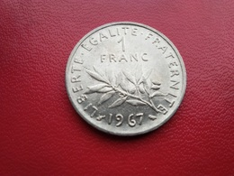 FRANCE   1  Franc   1967  -  Semeuse  - - France