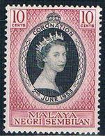 Malaya Negri Sembilan 63 MNH Coronation Issue  CV 1.40 (M0248) - Negri Sembilan