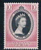 Malaya Perak 126 MNH Coronation Issue  CV 1.60 (M0245) - Perak