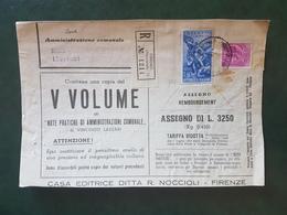 (18626) STORIA POSTALE ITALIA 1954 - 1946-60: Storia Postale